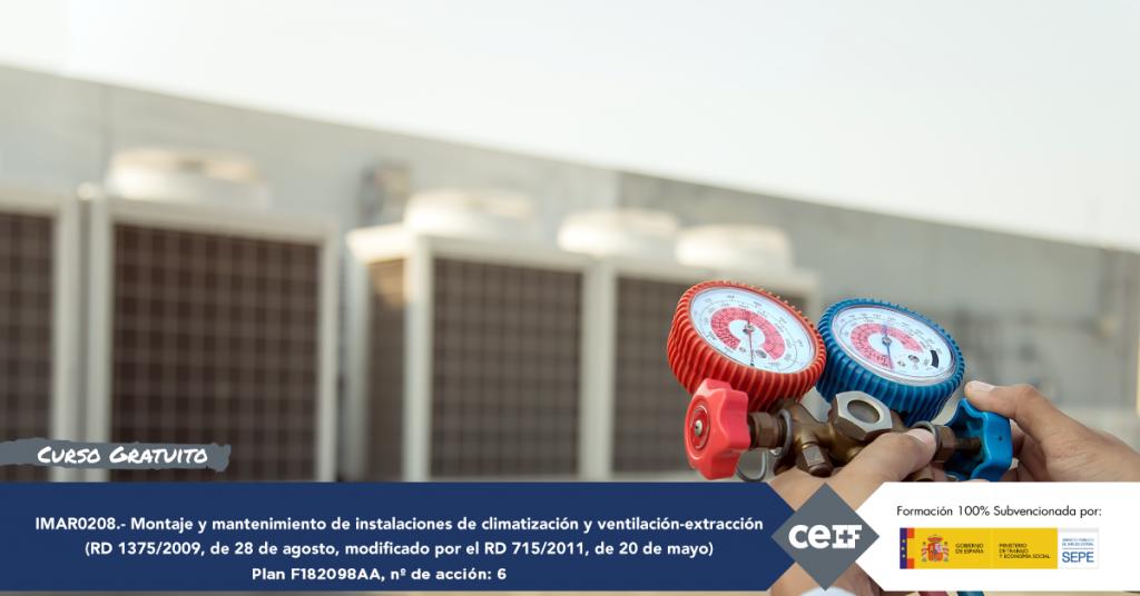 Montaje y mantenimiento de instalaciones de climatización y ventilación extracción