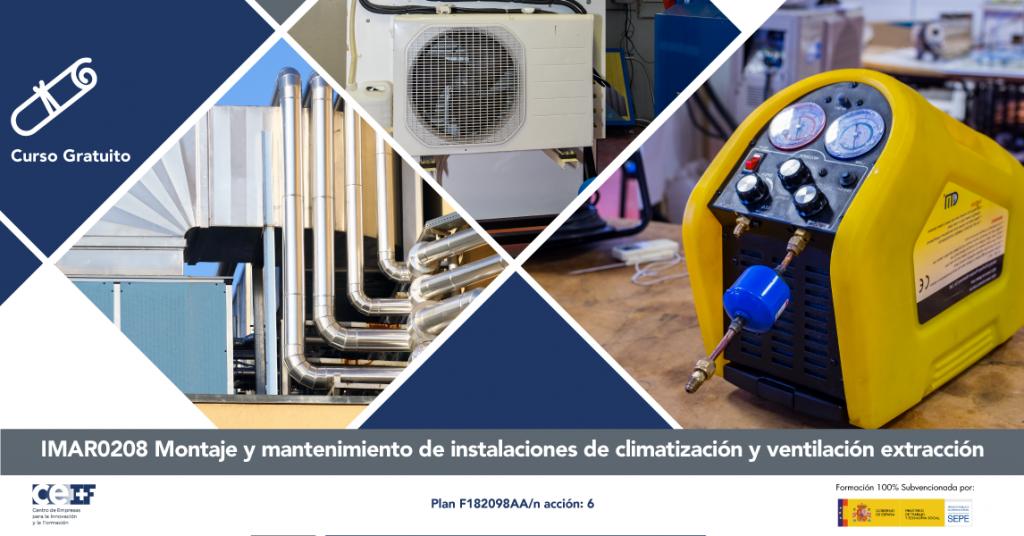 Montaje y mantenimiento de instalaciones de climatización y ventilación-extracción sector metal